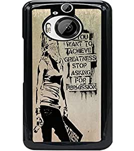 ColourCraft Image with Quote Design Back Case Cover for HTC ONE M9 PLUS