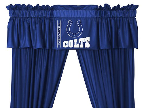 NFL Indianapolis Colts - 5pc Jersey Drapes Curtains and Valance Set at Amazon.com