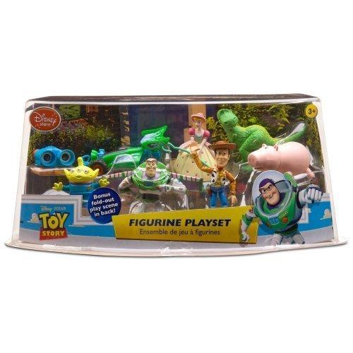 Buy Low Price Disney Toy Story Disney Pixar Rex Lenny Hamm Woody Buzz Alien RC Bo Peep 8 Piece Two Inch High Mini Figurine Play Set Disney Store With Fold Out Play Scene Figure (B003N5J55K)