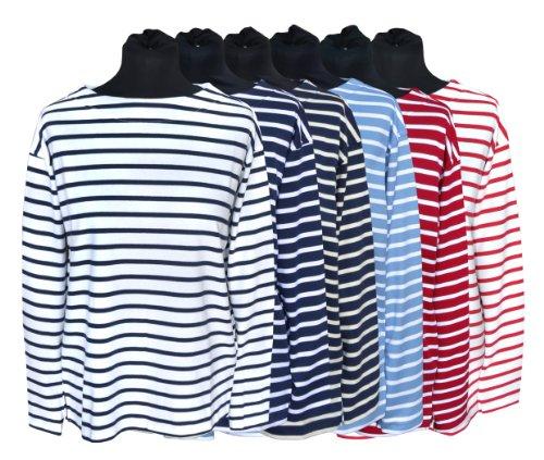 Bret. Damenfischerhemd, langarm, Damen, 38, blau/weissgestreift