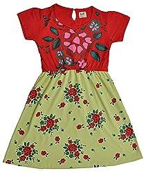 Pinehill Girls' Dress (Multi-Colour, 6 Years)