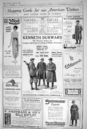PUBBLICITÀ 1920 KENNETH DURWARD WALPOLE GIEVES STEINMANN MILLINGTON STUDD