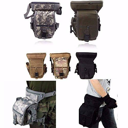 CAMTOA SWAT multiuso Armi e Tattiche Borsa Utility CS leg drop coscia pacchetto Pouch nero
