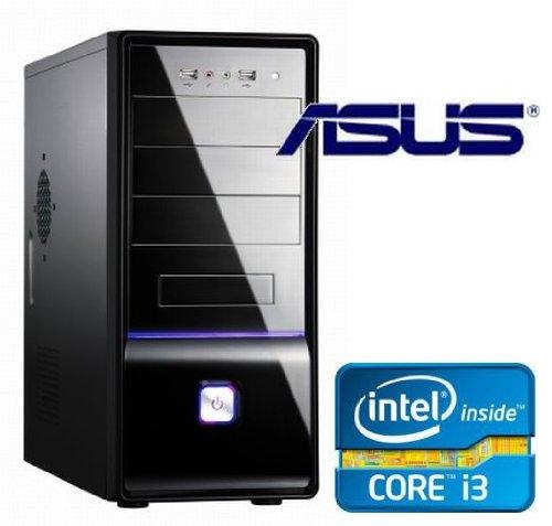 Tronics24 Istarter PC Intel Core i3-2120 (Dualcore) Sandy Bridge 2 x 3.3 GHz, 4 GB DDR3, Asus, 500 GB Sata3 , Intel HD2000, USB 3.0, SATA3, DVD-Brenner, Sound, GigabitLan, Cardreader, Office PC
