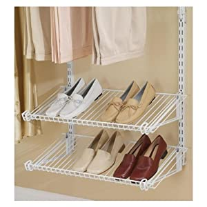 Amazon.com - Rubbermaid 3H94 Configurations Shoe Shelves, Titanium