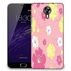 Snoogg Pink Flowers Designer Protective Phone Back Case Cover For Meizu M2