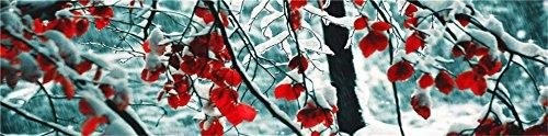 YTG diamante ricamo pittura parte del Trapano comodino pittura 3d di neve 160* 48-Trapano Mosaico diamante croce tappezzeria pittura fai da te decora Craft, Bedside Painting - Snow, 160*48CM