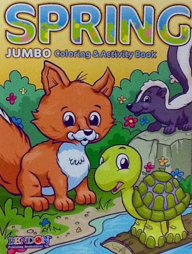 Spring Easter Jumbo Coloring & Activity Book: 96 Pages!!! Excellent for Easter Basket!! - 1