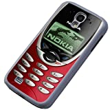 Funny novelty old red nokia front Samsung galaxy S4 i9500 / i9505 Design Case Back Cover Hard Plastic and Metal