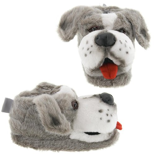 Cheap Gray Sheepdog Animal Slippers for Women and Men (B002D42Q44)