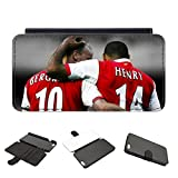 Leather Arsenal Legends AFC Gunners Henry Bergkamp iPhone Samsung Cover Case - iCaseCreatives (iPhone 6)
