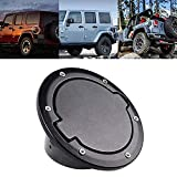 Tuhoomall Fuel Filler Door Cover Gas Tank Cap for 2007-2017 Jeep Wrangler JK & Unlimited 4-Door 2-Door Cover Accessories Jeep Gas Cap Cover