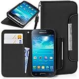 DONZO Wallet Structure Smooth Tasche für Samsung Galaxy S4 mini I9190 I9195 Schwarz