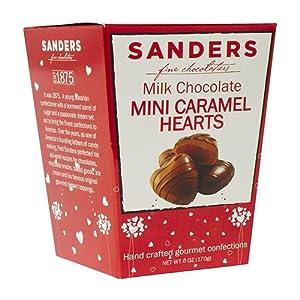 Sanders Fine Chocolate Heart Gourmet Confections-6oz (Caramel)