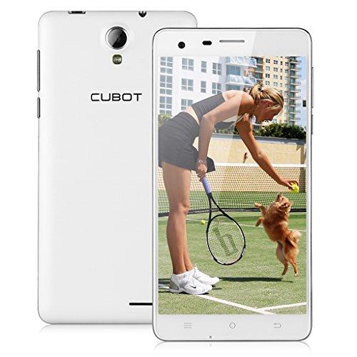 "CUBOT S350 3G Smartphone Quad Core 1.3GHz Dual SIM 2G+16G Dual Kameras 5,5"" Zoll IPS HD Screen Android 4.4 Handy ohne Vertrag GPS Bluetooth 4.0 WIFI Weiß"