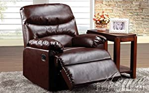 ACME 59016 Arcadia Recliner, Cracked Brown Bonded Leather
