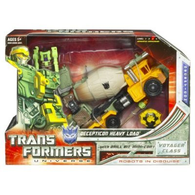 Transformers Universe Voyager Class 8 Inch Tall Robot Action Figure - Decepticon Heavy Load with Drill Bit Mini-Con, Giant Torpedo Launcher and Activation Key (Vehicle Mode : Mixer Truck)