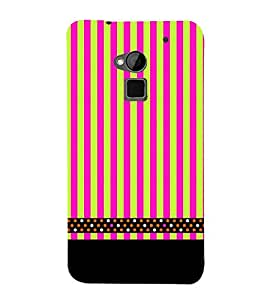 Lines Pattern Black 3D Hard Polycarbonate Designer Back Case Cover for HTC One Max