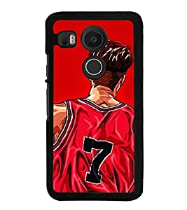 Player 2D Hard Polycarbonate Designer Back Case Cover for LG Nexus 5X :: LG Google Nexus 5X New