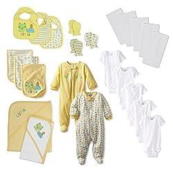 Gerber Unisex-Baby Newborn Cutie Frog 23 Piece Gift Bundle Set
