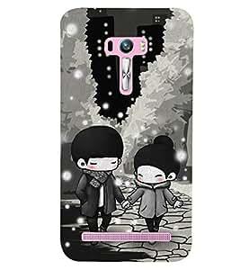 Kingcase Printed Back Case Cover For Asus Zenfone Selfie ZD551KL - Multicolor