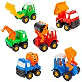 Fajiabao Kids Push Back Car Set Toy Mini Digging Car Mixer Truck Dump Truck And Cars Truck Model Toys For Boys...