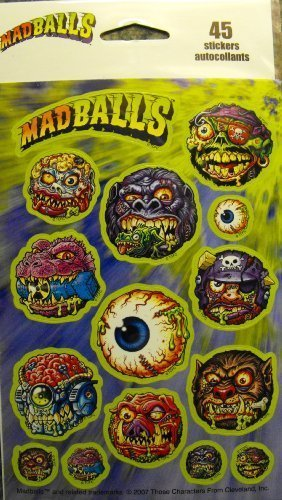 Madballs 45 Stickers 3 Sheets 15 per Sheet by Madballs