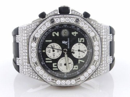 Audemars Piguet Royal Oak Offshore Mens Watch (12 Carats VS2 G Diamonds)