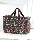 Oversized Cooler Tote - Blue Circles - Insulated Beverage Bag