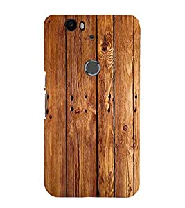 printtech Wooden Design Back Case Cover for Huawei Google Nexus 6P