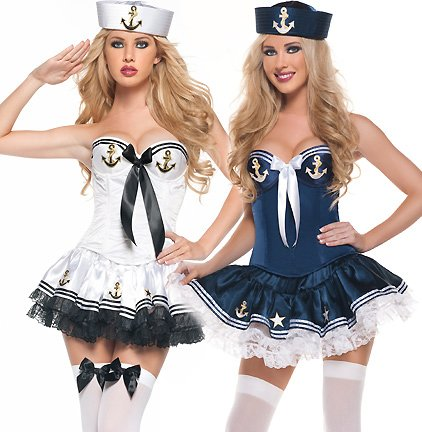 Ladies Sailor Fancy Dress Outfit