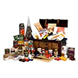 'Santa's Chest' Large Luxury Wooden Replica Vintage Christmas Chest Hamper with 40 Gourmet Festive Foods - Luxury Corporate, Christmas, Xmas Hampers & Gifts, Thank You, Wedding Anniversary, Engagement, 18th 21st 30th 40th 50th 60th 70th 80th 90th Birthday Presents for Her Women Mum Wife Sister Nanna Brother Grandad Him Men Dad Husband
