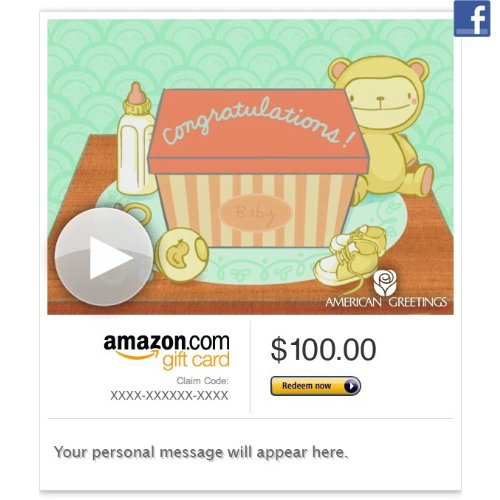 Amazon Gift Card - Facebook - Baby Lights Your World (Animated) [American Greetings] front-404179