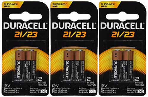 Duracell 6 (3x2) Duralock MN21B2PK Watch/Electronic/Keyless Entry Batteries, 12V Alkaline (Battery 23a 12v compare prices)