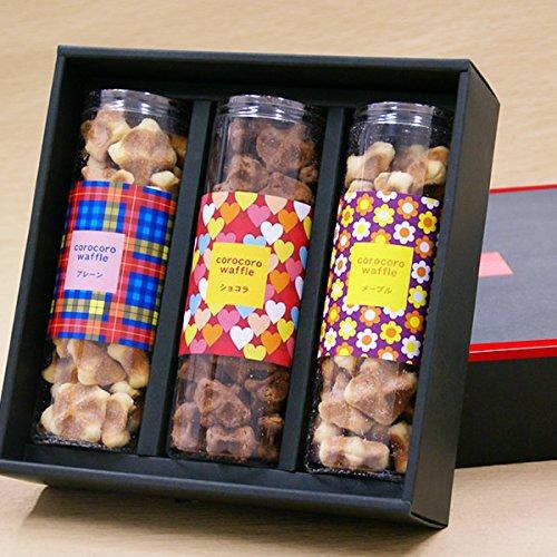 コロコロワッフル 3本セット 1箱 ( 3種 詰め合わせ ) クッキー ( プレーン メープル ショコラ )