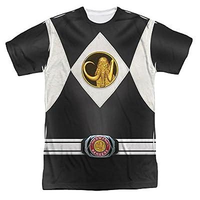 Mighty Morphin Power Rangers Black Ranger Emblem Costume - All Over Front T-Shirt