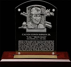 Cal Ripken Jr. HOF Plaque Etched Acrylic Desk Top Plaque