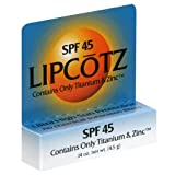 Fallene Lipcotz, SPF 45, 0.14 oz (4.5 g) (Pack of 3)