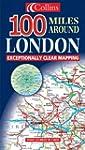 Plan de ville : 100 Miles Around London