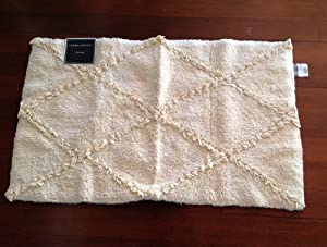 Laura Ashley Pale Yellow Rectangular Bath Mat Rug 21 By 34 Inche