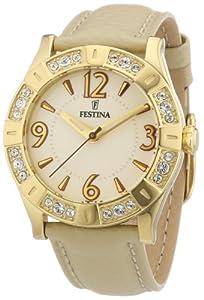 Festina Damen-Armbanduhr Trend Golden Dream Analog Leder F16580/2