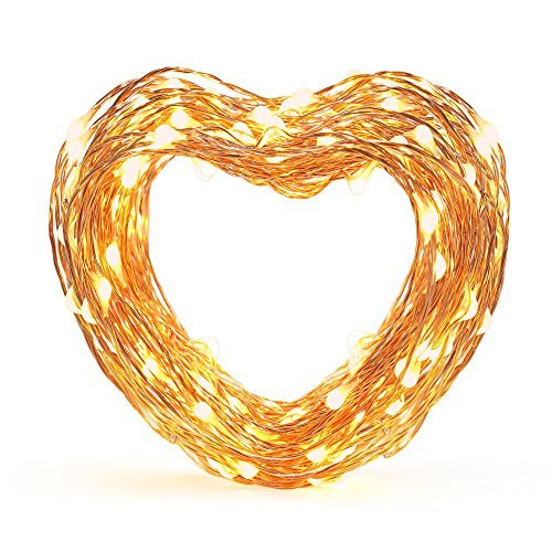 Eufy Starlit String Light, 33 ft Indoor and Outdoor White LED String Lights, IP65 Water-Resistant, Decoration for Christmas Tree, Bedroom, Patio, Holiday, Wedding, and Party ( Copper Wire )