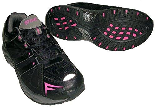 Damen Walkingschuhe Trekkingschuhe Walkingstiefel schwarz-pink (38)