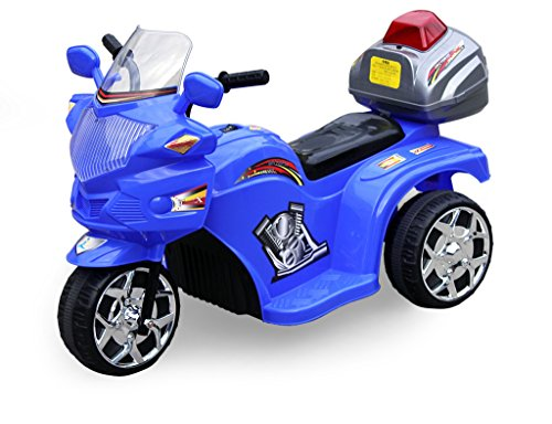 3 Wheel Police Motorbike For Kids #818 Blue