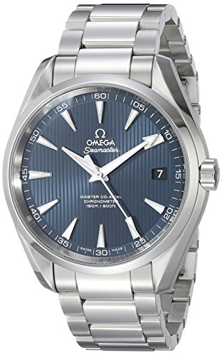 Omega 231.10.42.21.03.003 Seamaster Aqua Terra Automatic Mens Watch - Blue Dial (Omega Seamaster Blue compare prices)