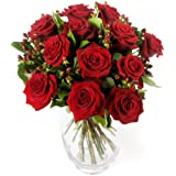 Clare Florist A Dozen Red Roses Fresh Romantic Flower Bouquet