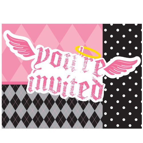 Lil' Angel Foldover Invites Package of 8