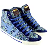 Womens Gola Quota High Top Casual Floral Boot Suede Tip Sneakers