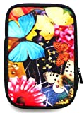 Flash Superstore Butterfly Garden Water Resistant Neoprene Soft Zip Case/Cover suitable for Blackberry Playbook ( 7 Inch Tablet )