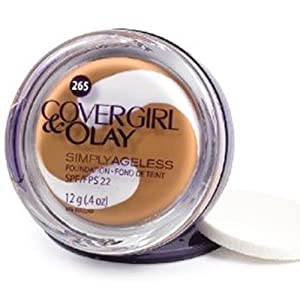 CoverGirl & Olay Simply Ageless Foundation, Tawny 265, 12g (2-pack)